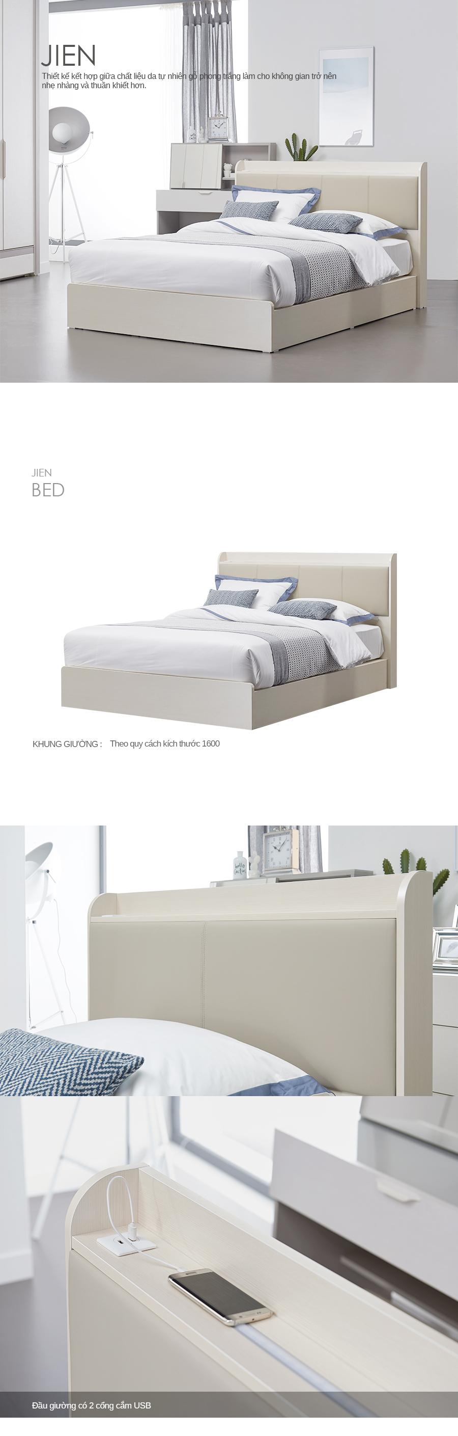 Giường ngủ 1.6M JIEN